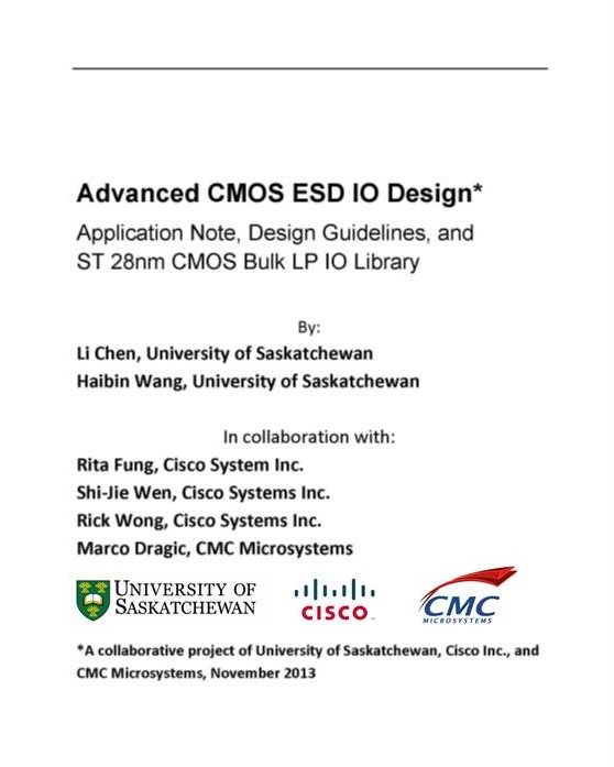 Advanced CMOS ESD IO Design: Application Note, Design Guidelines, and ST 28nm CMOS Bulk LP IO Library