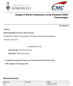 Reference Design and Design Methodology: Design of Silicon Interposers Using Standard CMOS Technologies