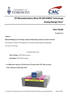 Design Methodology: ST 28 nm FD-SOI CMOS Technology - Analog Design Flow and Reference Design